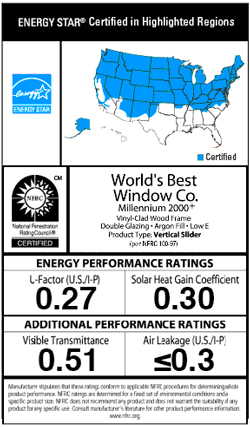 ENERGY STAR certified window label